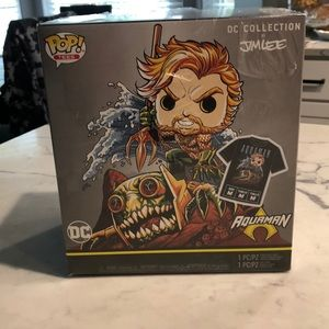 Funko dc collection by Jim lee aqua man Sz M